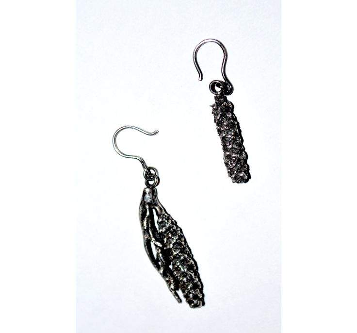 Pollen - earrings. sterling silver. Jade Pauzé, 2013