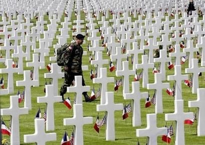 US cemetery in Normandy, France