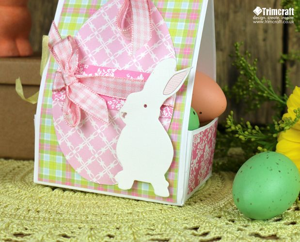 46 best easter project ideas images on pinterest craft tutorials diy easter gift box tutorial with free template negle Gallery