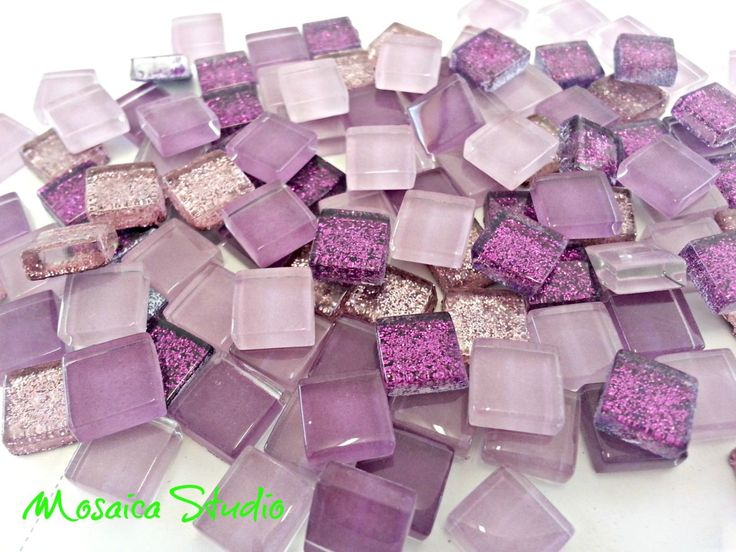 Mini Crystal Tiles 10x10mm - Purplelicious mix 400pc by MosaicStudio1 on Etsy