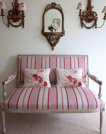 Kate Forman fabric sofa and cushions