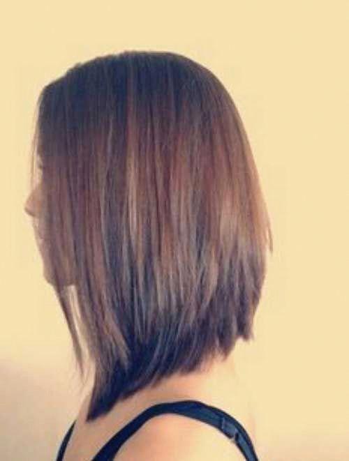 Inverted Long Bob | Bob Hairstyles 2015 - Short Hairstyles for Women #mediumhairstyleideas