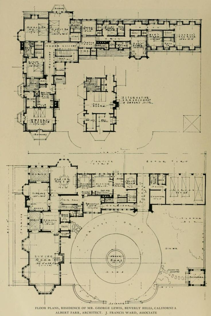 83 best fabulous floor plans images on pinterest vintage houses floor plans residence of mr george lewis in beverly hills