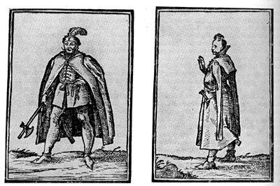 Венгерские дворяне. Венгерская миниатюра 1600 г.