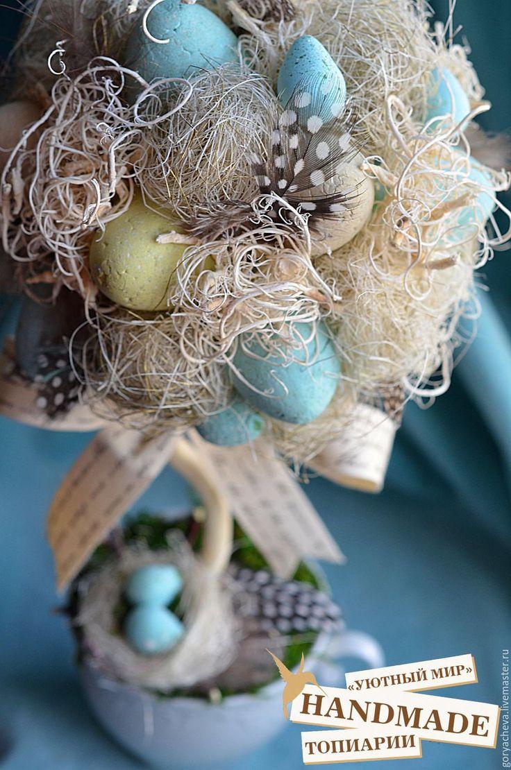 """Купить Топиарий """"Скоро ПАСХА"""" - комбинированный, пасхальный топиарий, Пасха, пасхальный сувенир, пасхальный подарок"""