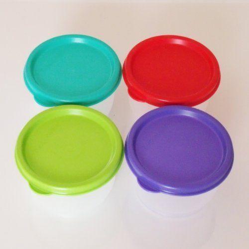 Tupperware Snack Cup Set of 4 Multi Color Seals by Tupperware. $16.50