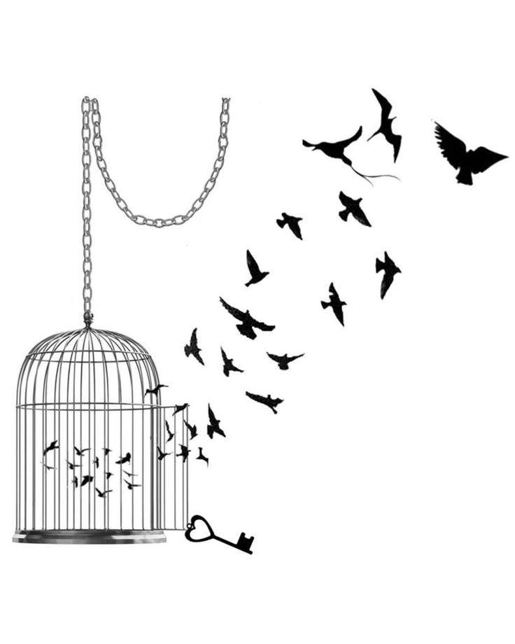 les 25 meilleures id es de la cat gorie tatouages de cage oiseaux sur pinterest tatouages de. Black Bedroom Furniture Sets. Home Design Ideas