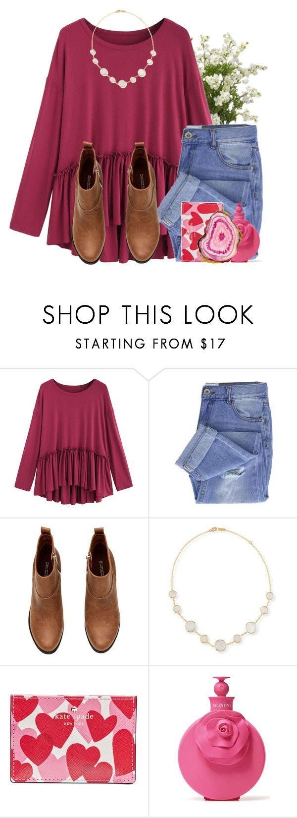 """""""Valentine's Day❤️"""" by lindonhaley ❤ liked on Polyvore featuring Taya, H&M, Ippolita, Kate Spade and Valentino"""