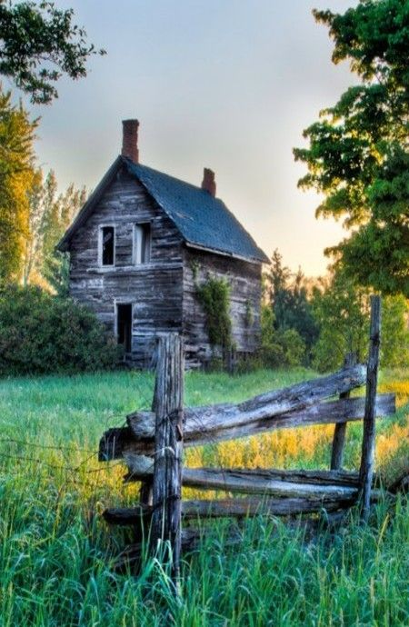 ♂Aged with beauty Abandoned Old Farm House..Sweet...another painting idea....