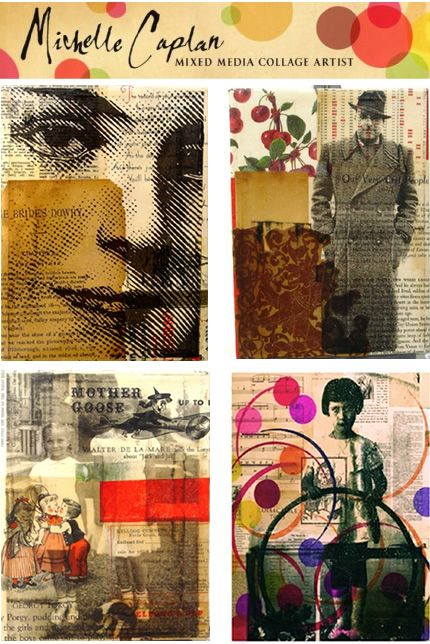 Michelle Caplan – Mixed Media Collage Artist Collage, Suitable for a project called Fragments for GCSE