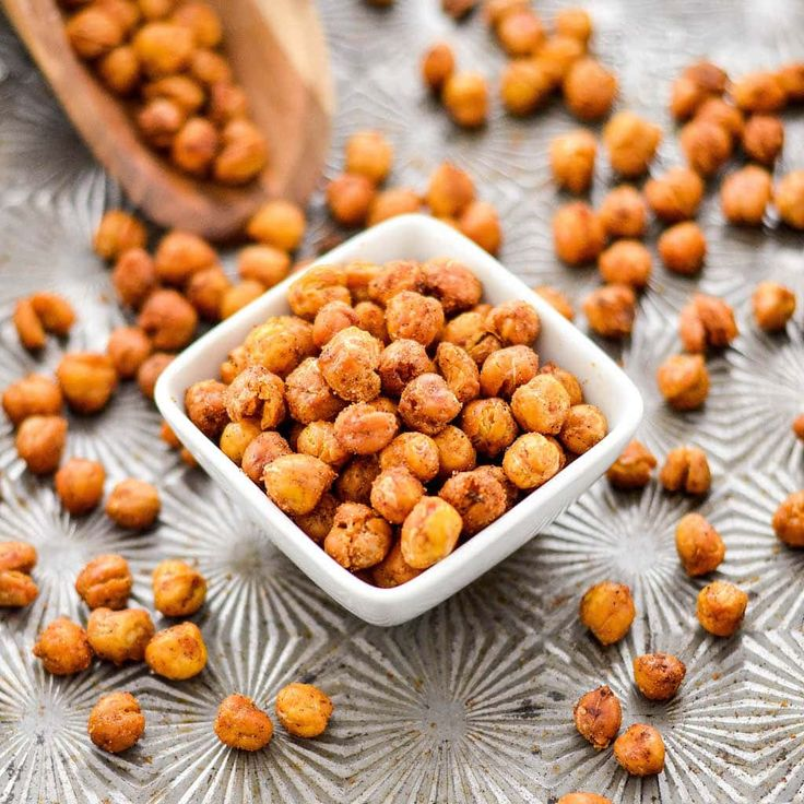 These perfectly seasoned Crunchy Roasted Chickpeas make a great snack or salad topper! Vegan, gluten-free, dairy-free, & sugar-free!
