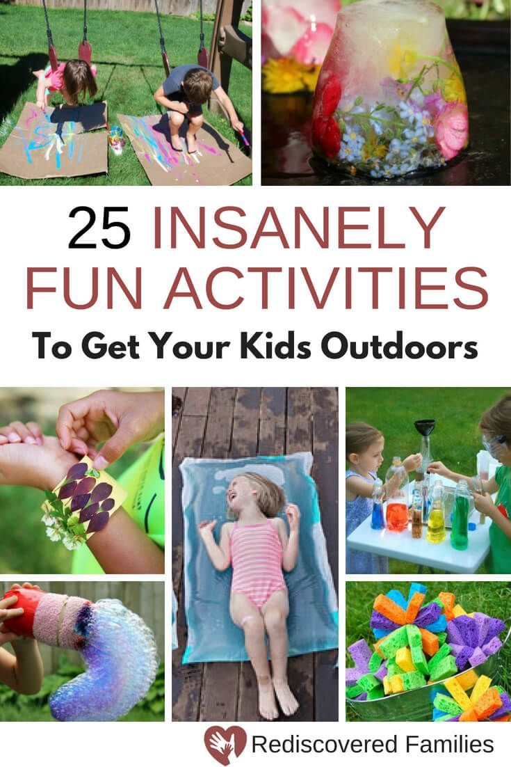 25 Insanely Fun Activities To Get Your Kids Outdoors This Summer Outdoor Activities For Kids Fun Summer Activities Outdoor Kids