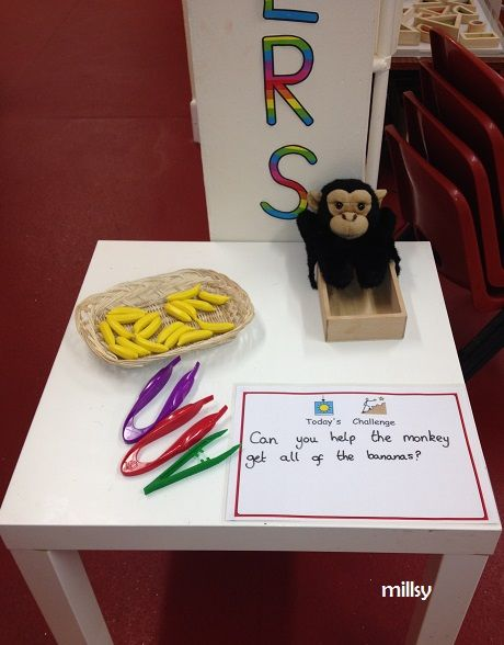 funky fingers. finger gym. fine motor skills. Eyfs Jungle themed funky finger activity