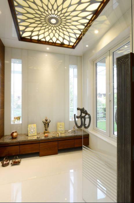 Wwwskidrin pooja door design pooja rooms room false ceiling - False wall designs in living room ...