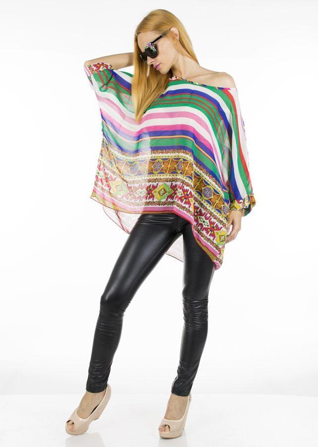 Bluze Dama Tapestry  -Bluza dama casual-elegant  -Model lejer, ce se aseaza bine pe corp si poate fi purtat cu usurinta la diverse ocazii  -Design modern cu imprimeu interesant si indraznet     Compozitie:100%Poliester
