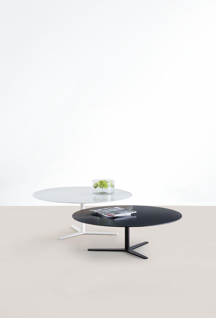 Salon Tisch TRE 90, Design Charels O. Job fuer MOX