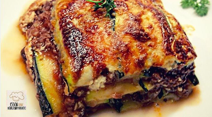 Low-Carb Zucchini-Lasagne - Rezepte ohne Kohlenhydrate