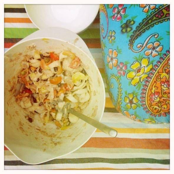 Salade Van Loesje recept | Smulweb.nl witlof tonijn tomaat mandarijntjes
