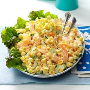 Chilled Shrimp Pasta Salad....This sounds delicious!  The horseradish will put a little zip into to it from being boringly bland.