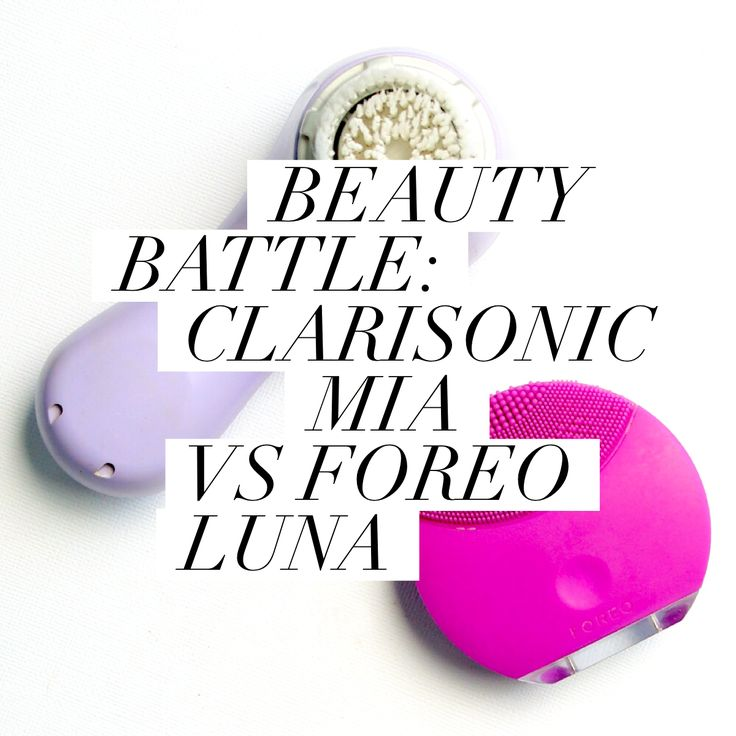 Which is your fave? It's the battle of the Clarisonic Mia and the Foreo Luna on themaquillage.com.au