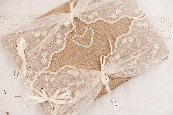 Wedding Guest Book  Rustic Romantic Retro  Elegant by LenaWeddings, $45.00
