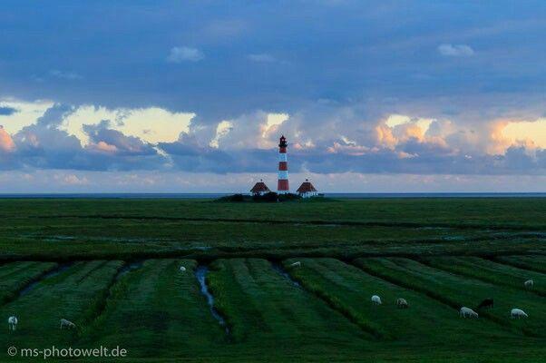 #Leuchtturm #Westerhever #eiderstedt #Nordsee