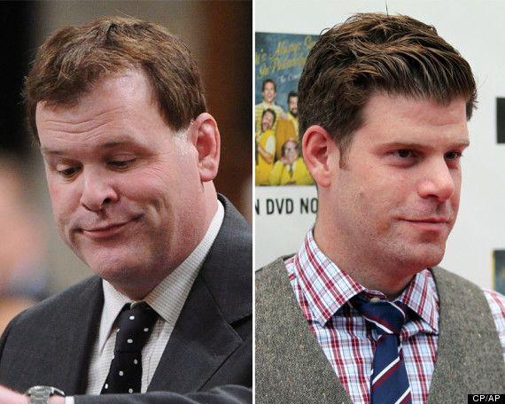 """John Baird and his look alike Stephen Rannazzisi (Kevin) from """"The League"""""""