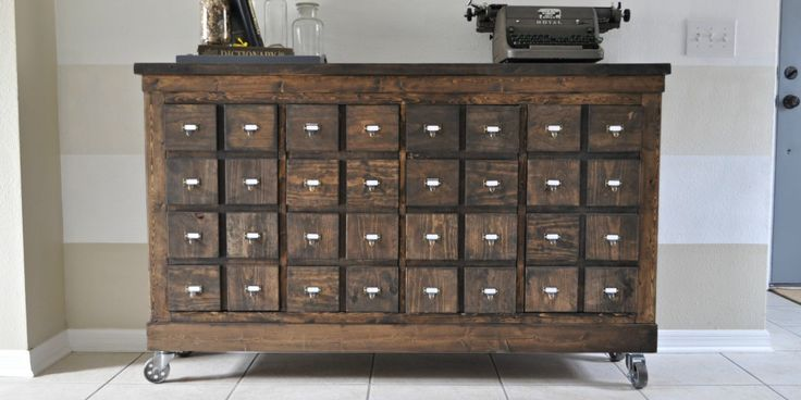 Ikea Cubbies into a Rustic Apothecary / this is amazing! I'm in love with it and I need to go cubby hunting asap!