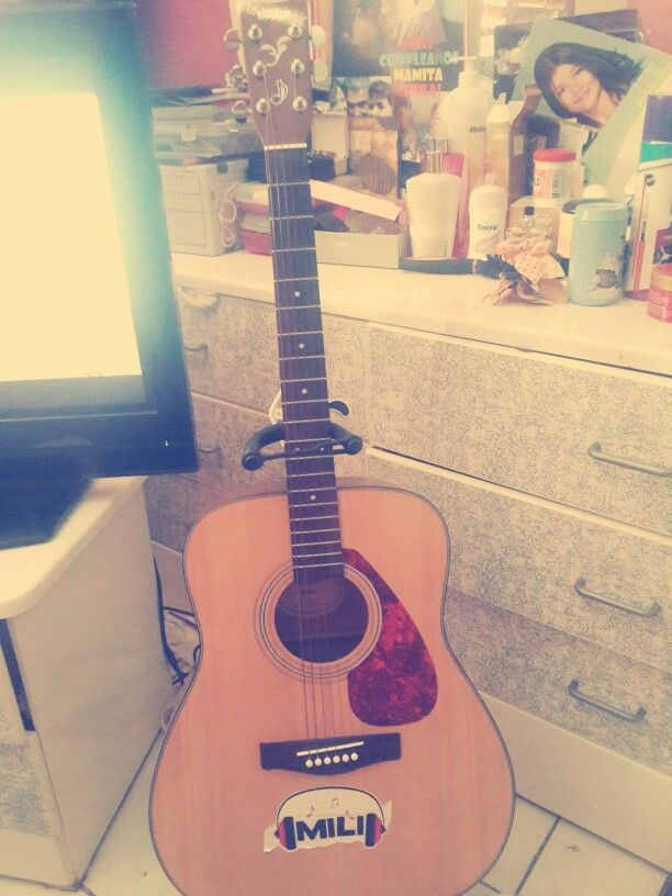 I really love my guitar!! ♡ everything goes away when i play it! ♡♡♡♡