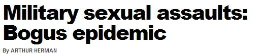 """NY Post Columnist Calls Increase In Military Sexual Assaults A """"Bogus Epidemic"""""""