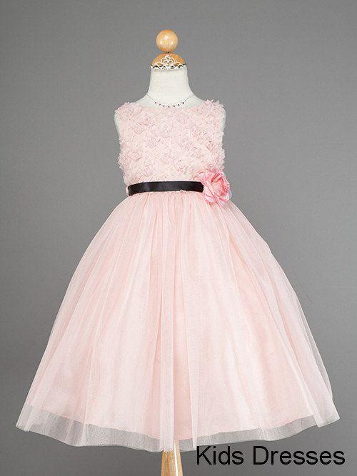 Pink flower girl dress baby flower girl Dress by kidsdresses