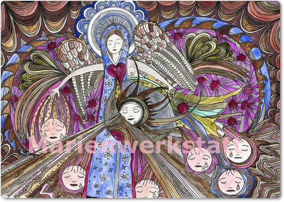 Heilige Jungfrau Maria   Sub tuum praesidium   von Marienwerkstatt
