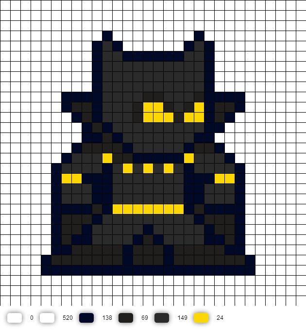 Black Panther Perler Bead Pattern   Marvel 8-Bit Perler