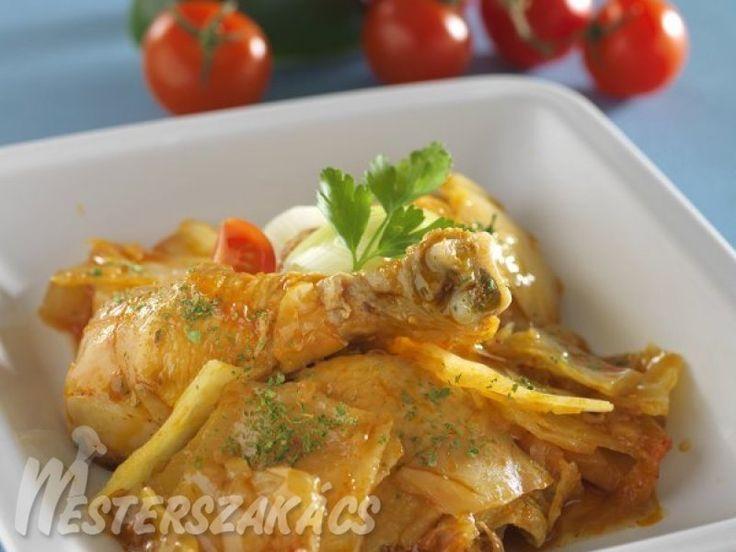 Káposztás csirke recept