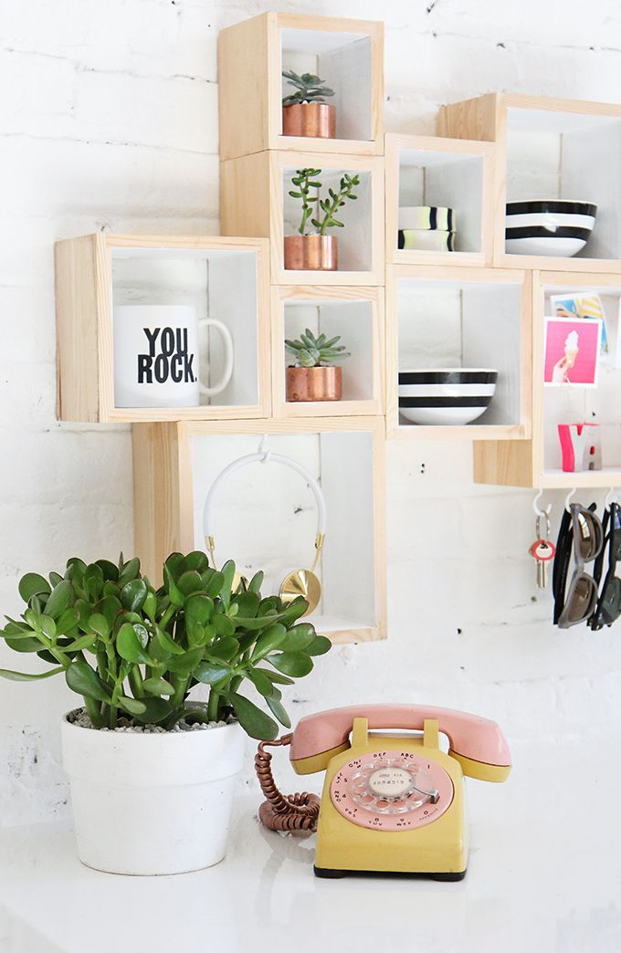 DIY box wall storage