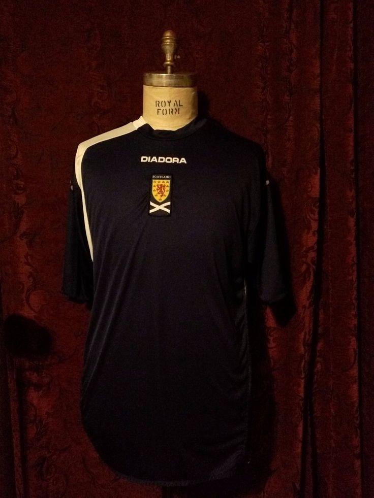 Diadora 2005/6 Scotland Men s National Soccer Team Home Jersey/Strip Size: XL