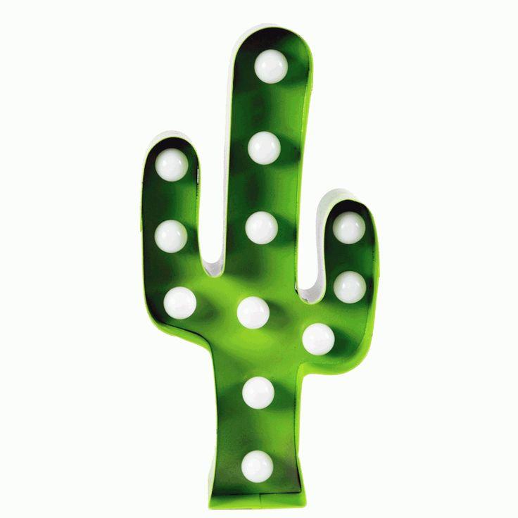 Grön Kaktuslampa LED