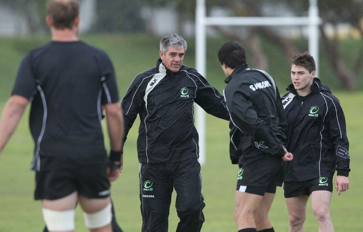 World XV coach Nick Mallett barks the orders at training this morning. Still need tickets? http://bit.ly/1iSYYNl