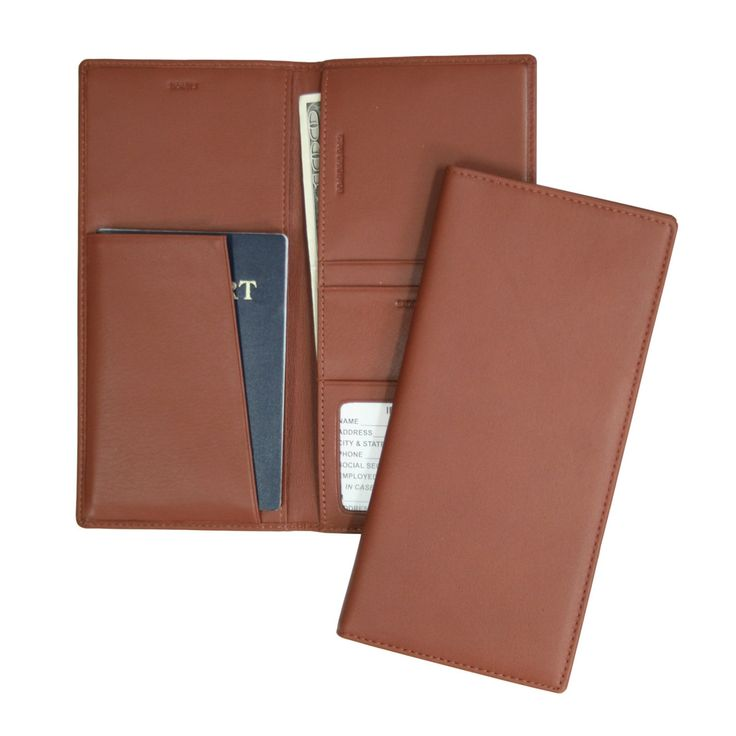 Royce Leather RFID Blocking Passport Ticket Holder - Tan - RFID-211-TN-5