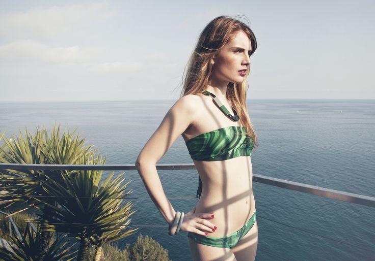 #malaspiga #malachite #bikini #swimwear #green #bandeau #luxury #summer