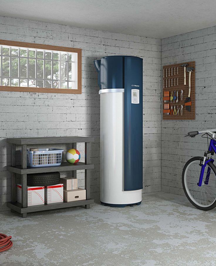 Chauffe-eau #thermodynamique, respectueux de l'environnement Aéromax 4 sur air ambiant de Thermor. Pour les pièces non chauffées.