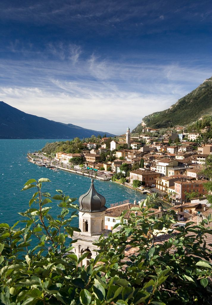 Lake Garda, Italy - One of the places you'll visit on this bike tour of Italy. Enter dan330 for special pricing http://maupintour.com/tour/italy-cycling-tour/