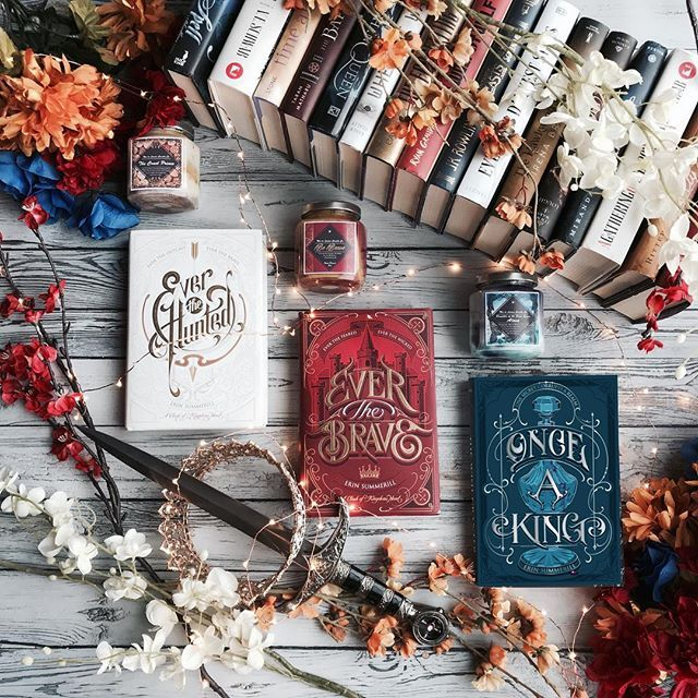 You guys the stunning cover for Once a King by @erinsummerill was revealed yesterday and I am seriously so in love with it!!! By now Im sure you know Im a huge fan of this series and I cant wait to dive back into this world!!! . This is actually a companion series to Ever the Hunted/Ever the Brave so it can be read separately! It wont be releasing until December from @hmhteen so you have a while to wait but make sure to add it to your TBR piles. . The gorgeous candles in the picture are from…
