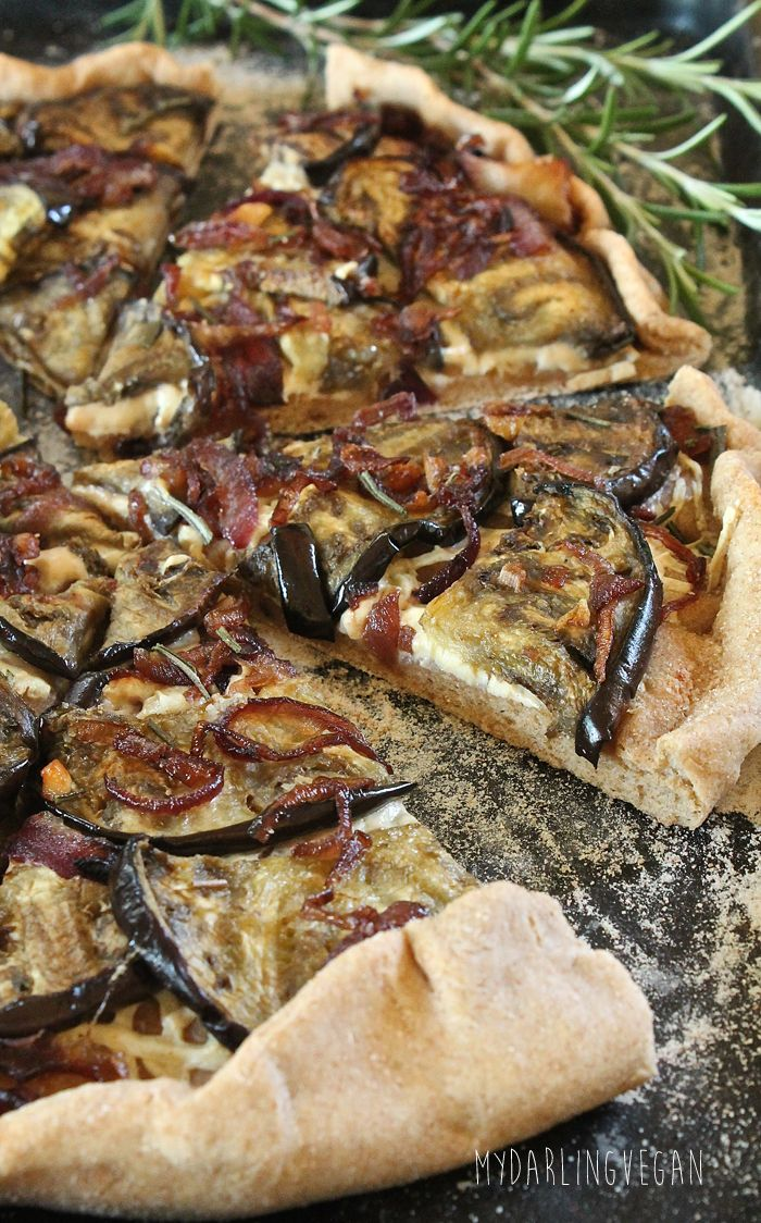 Eggplant and Caramelized Onion Pizza