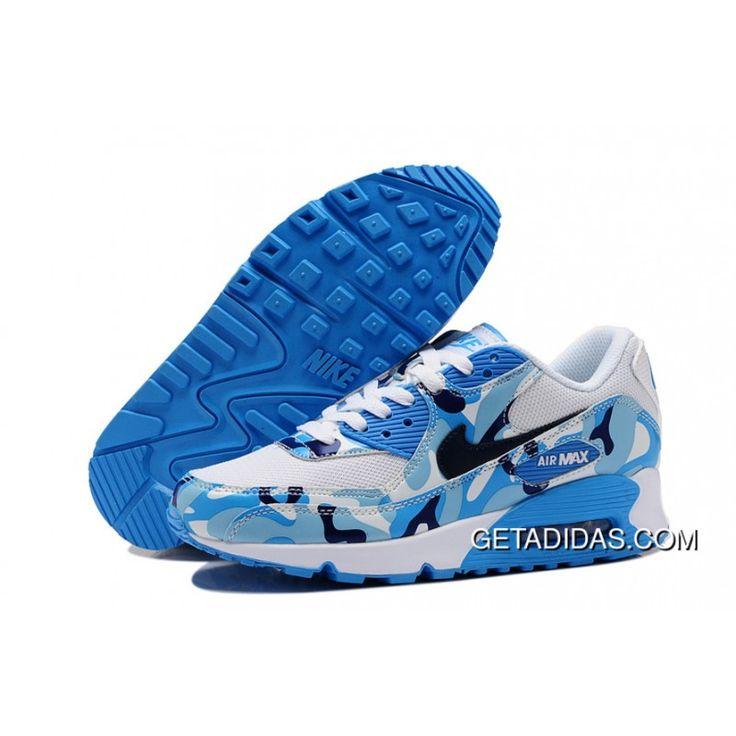 Nike Air Max 90 Custom Camo White Month Dark Blue TopDeals, Price: $78.70 -