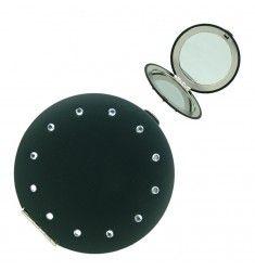 Mont Bleu Black Compact Makeup Mirror pACS-2