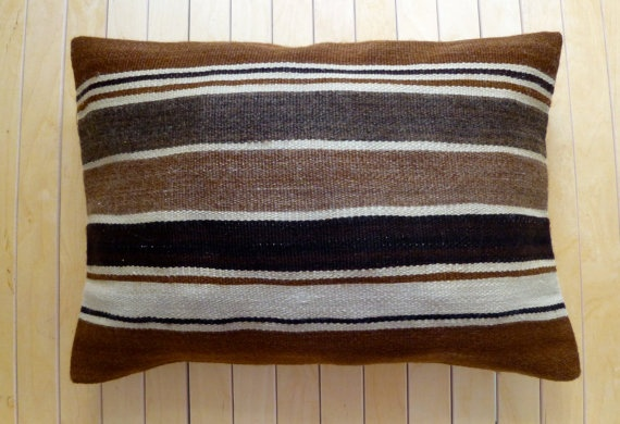 Decorative Throw pillow Wool Hand woven kilim by PillowTalkOnEtsy, $34.00