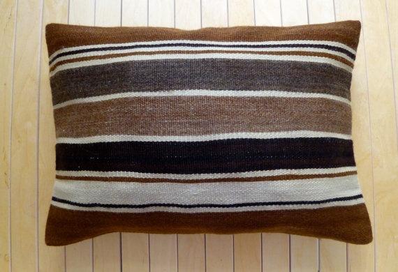 Decorative Throw pillow Wool Hand woven kilim by PillowTalkOnEtsy, $34.00