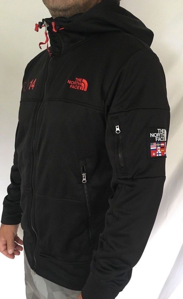 856050985 The North Face Men's size M Olympic Flags RU/14 Hoodie Zip UP Jacket ...