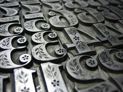 letterpress display numerals. I literally gasped when I saw this.